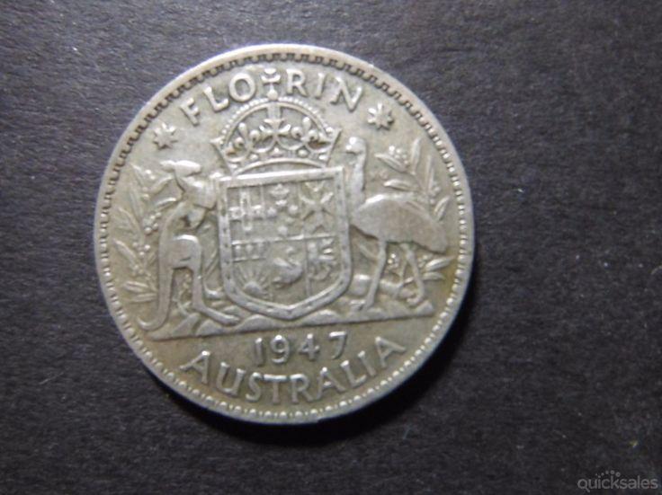 Florin  1947, KGVI, good condition by jones101 - $18.00
