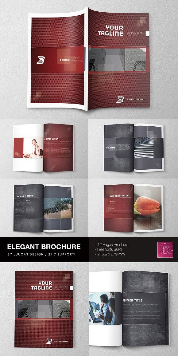 Elegant Brochure Template Brochure Templates Brochure Design