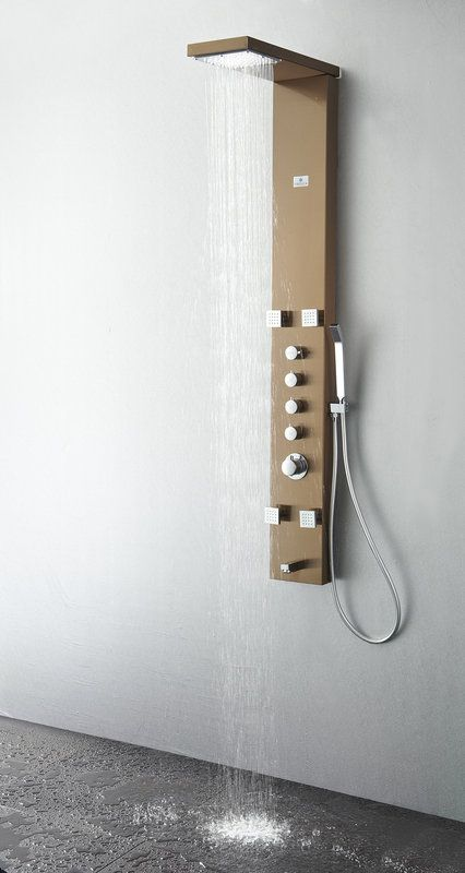Upgrade your bathroom with a shower panel, and bring the luxurious spa feeling into your own home!