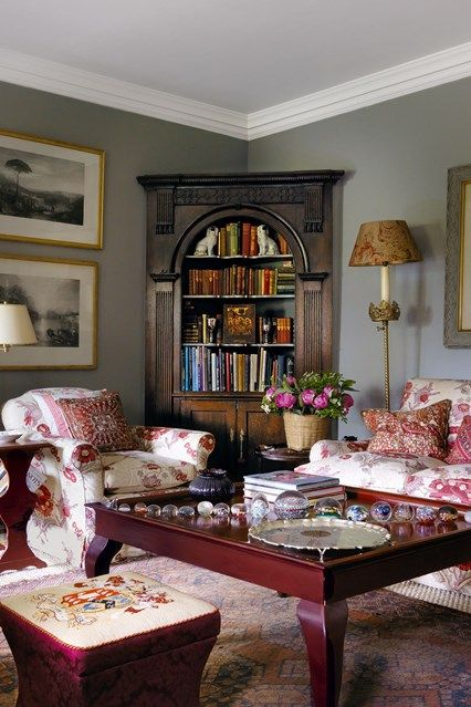 Drawing Room Antique Cupboard - Emma Burns has created a comfortable, charming retreat in her parents' converted stable block - real homes on HOUSE by House & Garden