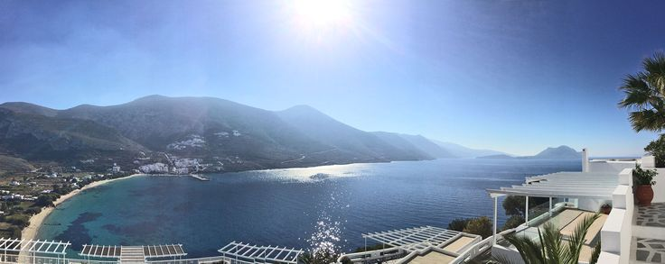 The sparkling waters of Amorgos ! Panoramic view from the veranda.