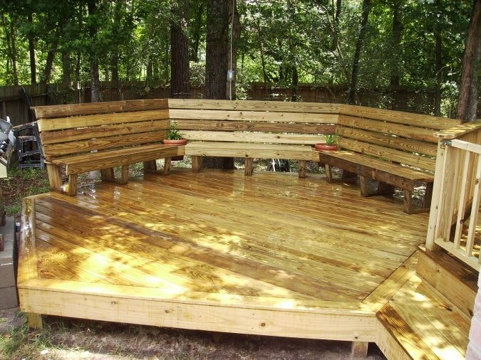 how to build a composite deck bench