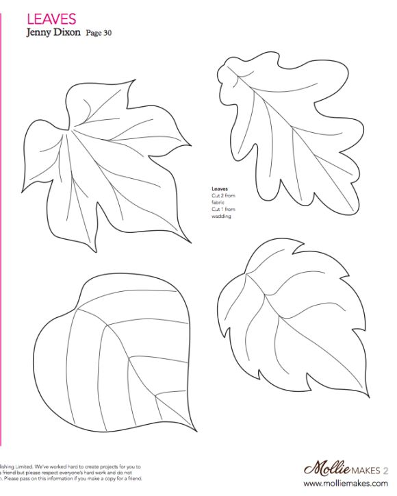 Mollie makes, Felt Leaf Template                                                                                                                                                      More