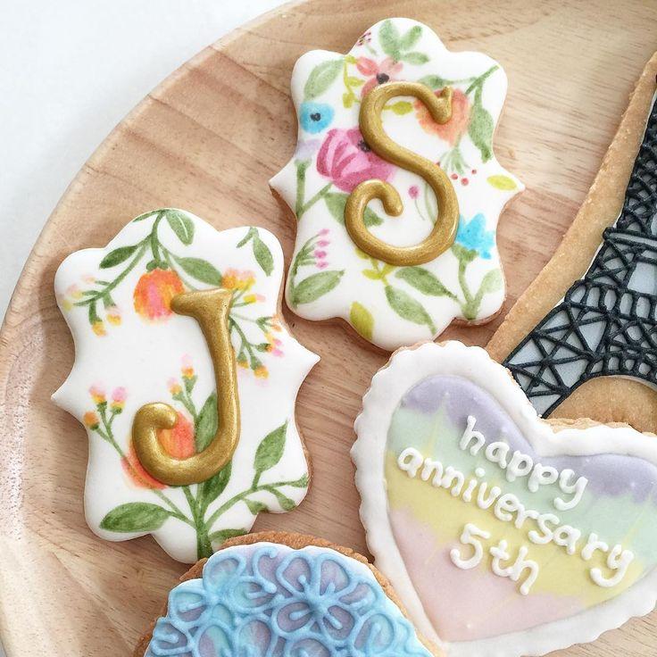 17 Best Ideas About Monogram Cookies On Pinterest