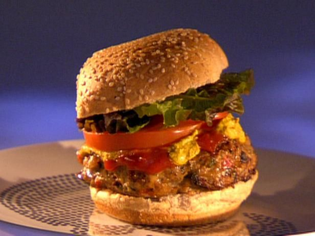 Chicken Patties : Instead of chicken breasts for dinner, make Guy's chicken patty that is seriously packed with spices and diced aromatic vegetables. Keep the additional condiments simple, because you want to taste every spice blended into the burger. Basic ketchup and mustard will do.
