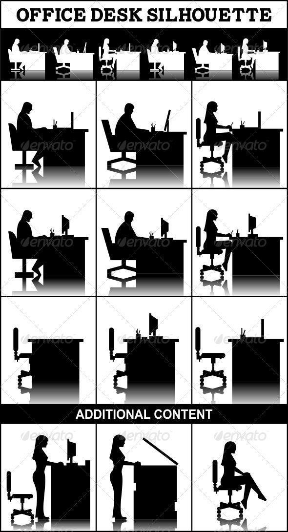 office desk silhouette Gallery
