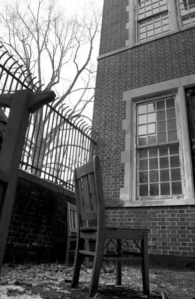 The bars that surrounded the Pennhurst State School were intended to prevent the escape of afflicted children.