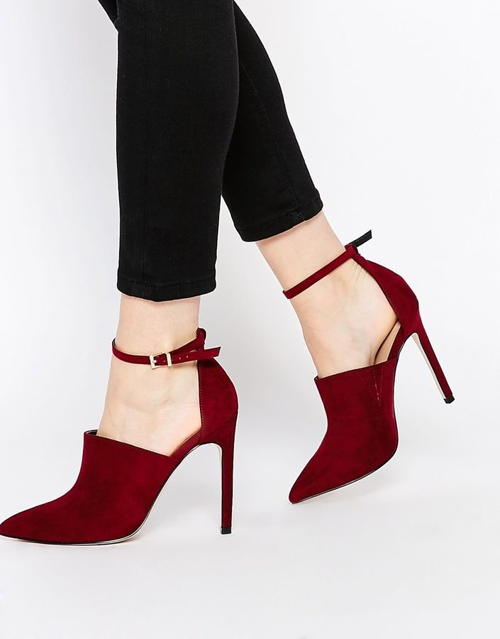Sexy red pointed heels are calling your name for Valentines Day
