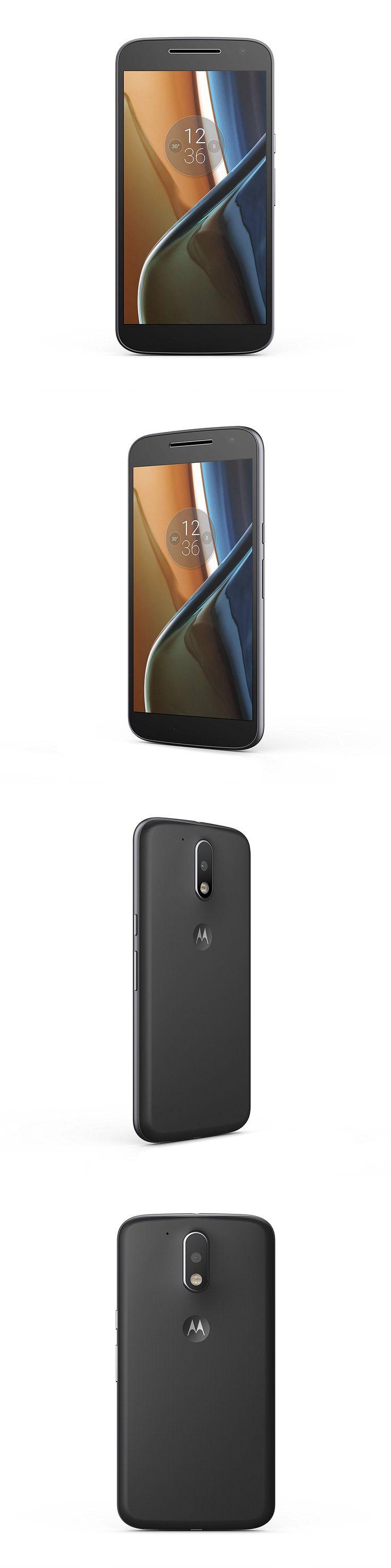 cell phones: Moto G (4Th Gen.) Unlocked - Black - 32Gb Brand New -> BUY IT NOW ONLY: $158.99 on eBay!