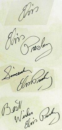Elvis Autography