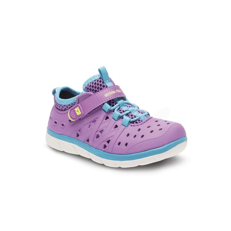 Stride Rite Made 2 Play Phibian Girls' Water Shoes, Girl's, Size: 4 T, Purple