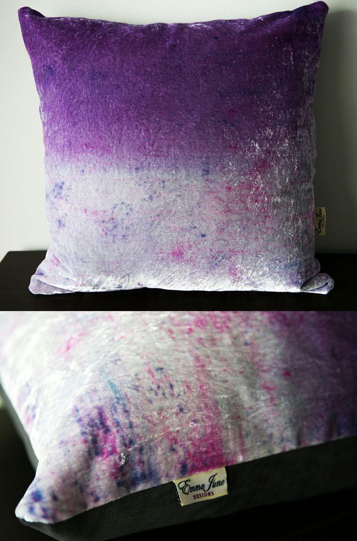 Spring inspired velvet cushion available from my Etsy: www.etsy.com/listing/183883790