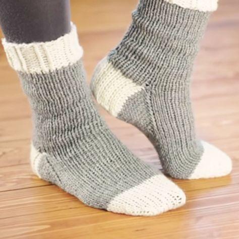 Knitting socks Basic courseKnitting a sock …