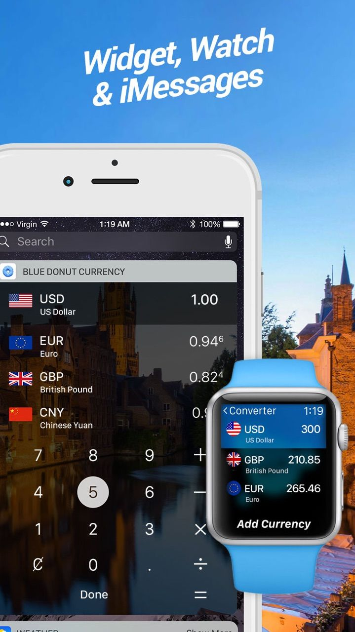 Blue Donut Converter puts the power of real-time world currency exchange rates in the palm of your hand. This simple, fun and easy-to-use currency converter is perfect for leisure and business, everyday use and travellers who need to calculate currencies on the go. It not only provides live exchange rates and charts but the ability to set an alert for you to monitor your favourite currencies with immediate notifications.
