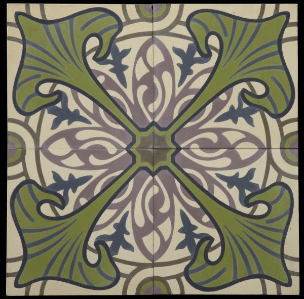 Carrelage Ciment Majorelle Vert Olive Ornements Pinterest