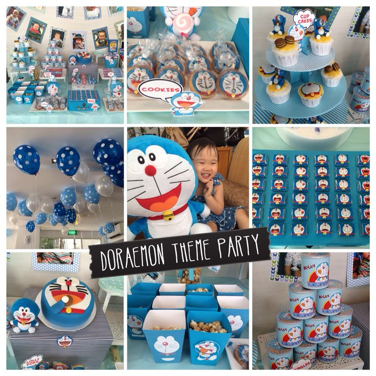 Doraemon theme party. For more photos please visit pinterest.com/Sugarena