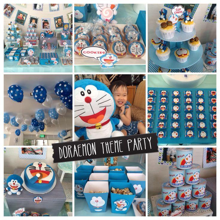 Doraemon theme party. For more photos please visit pinterest.com/Sugarena