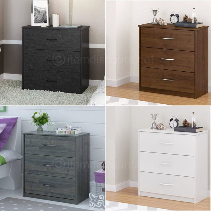 Mainstays 3 Drawer Chest Dresser Bedroom Furniture ASSORTED Colors #Mainstays #AntiqueStyle