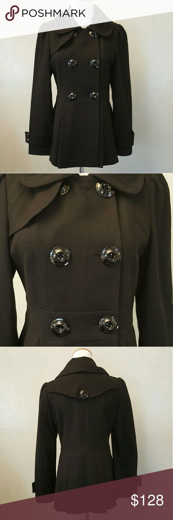 Guess Peacoat Guess black peacoat in perfect condition like new petite small Guess Jackets & Coats Pea Coats