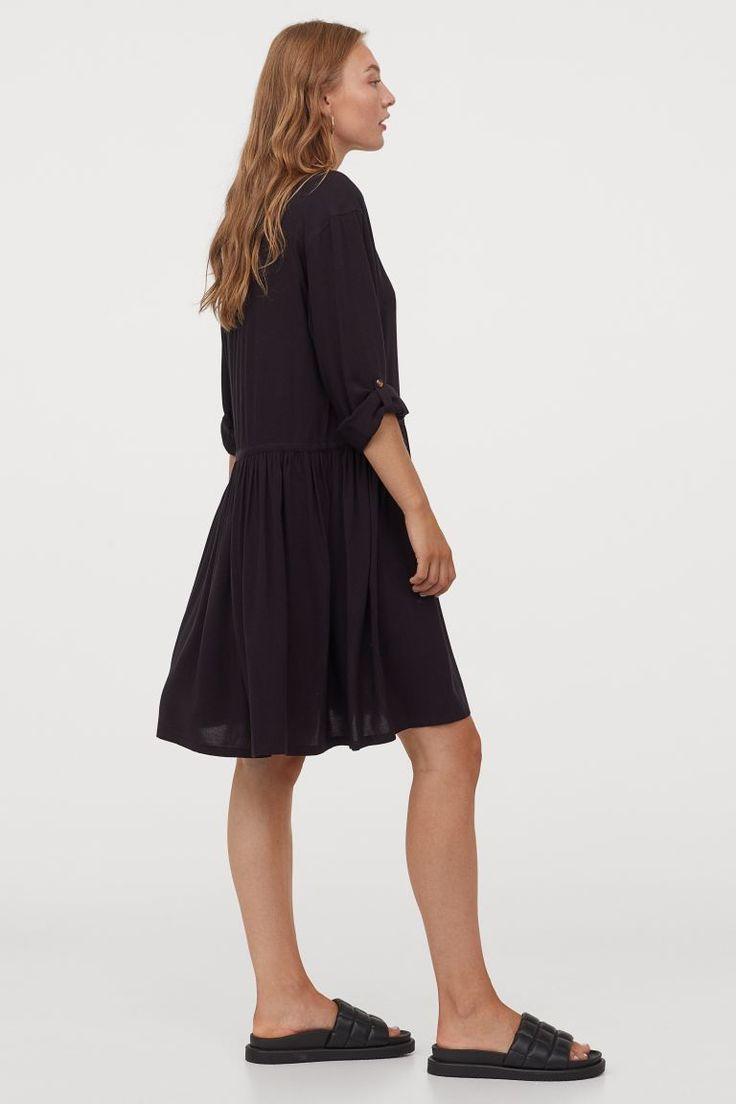 blusenkleid schwarz ladies h m de black shirt dress