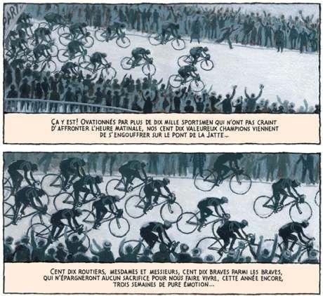 Tour de France bicycles racing Le Tour des Géants Nicolas Debon.jpg (460×422)