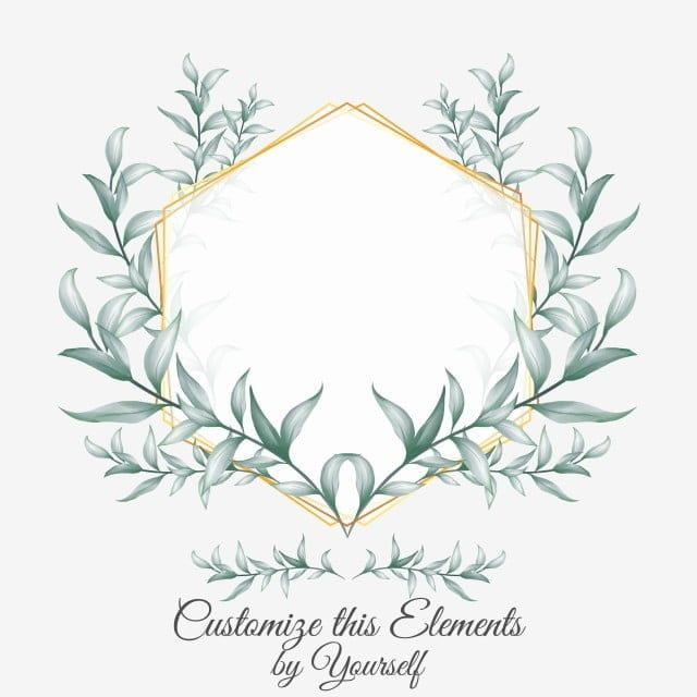 Geometric Floral Golden Frame Save The Date Multipurpose Cards For Wedding Invitation Vector And In 2021 Floral Border Design Wedding Borders Wedding Invitation Vector