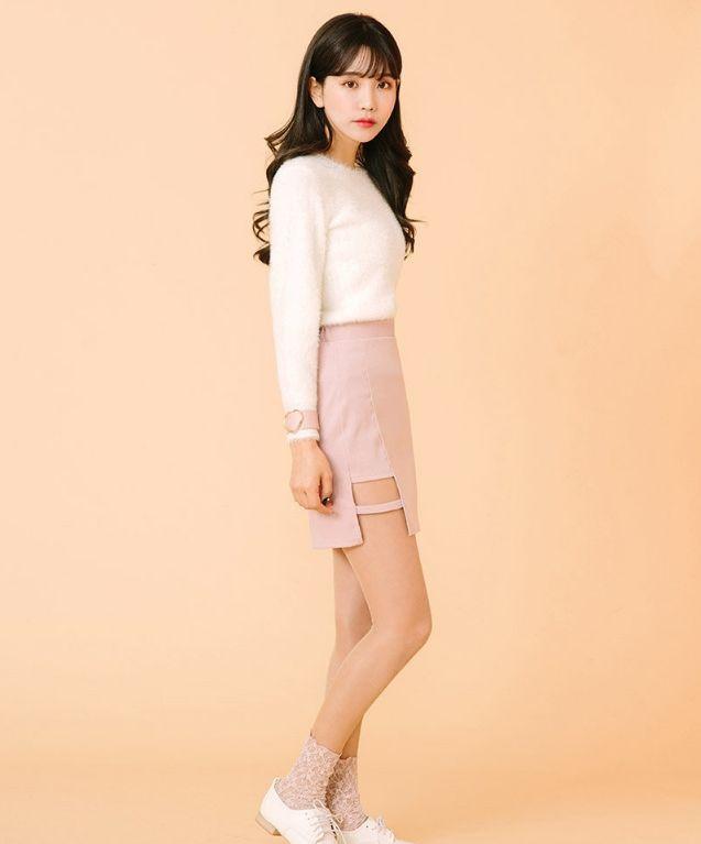 icecream12 - Cutout Mini Skirt US$9.58 (80% OFF)