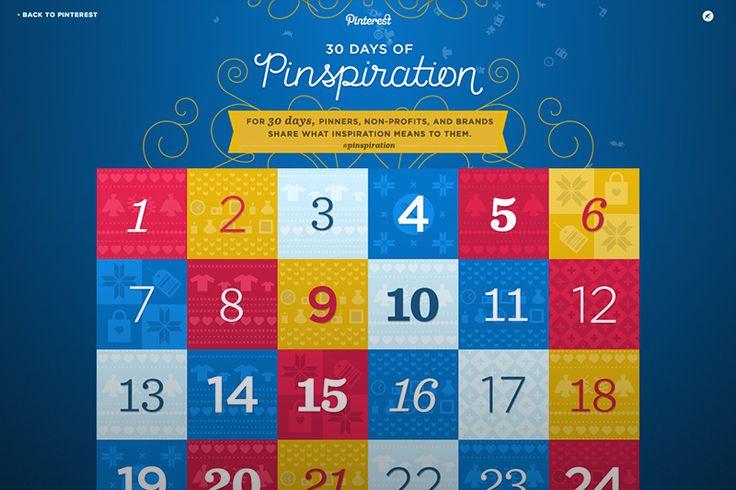 30 Days of Pinspiration, via the Official Pinterest Blog