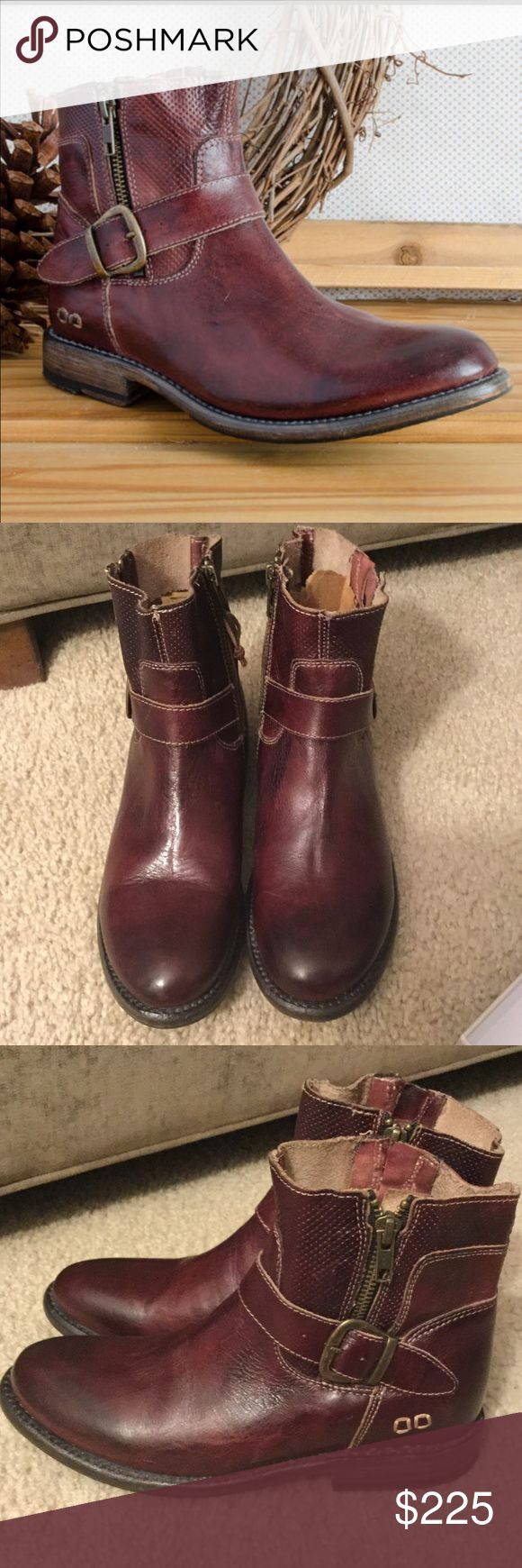 """NWOT, Bed Stu, 'Becca,' Scarlett Rustic, Size 7 NWOT, display model, no original box. Size 7. Make an offer!! Great Color.. it's like a brown/red. For the style-conscious, BECCA is your ticket to a winning look. This ankle boot is built with dual zippers, buckle detail on ankle, and embossing on shaft. Easy to wear, and fashionable enough for everyday. Rich full grain leather • Dual Zippers, embossed shaft • Goodyear welt sole, Rubber heel for traction • 6"""" shaft, 1"""" heel Bed Stu Shoes Ankle…"""