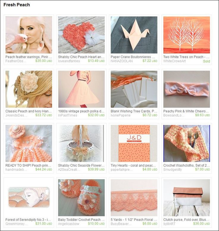 Fresh Peach - Etsy Treasury.  Curated by  Annie of CreationsOlfee on Etsy