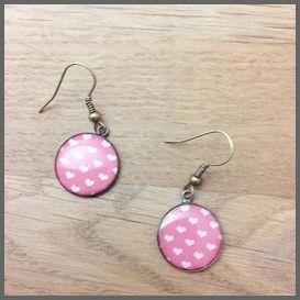 Sweet Valentine - Valentijn - Oorhangers hartjes roze