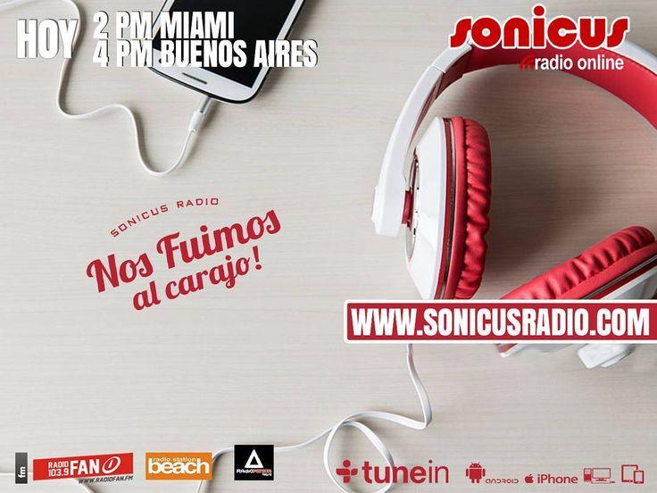 Ya llegamos!! en vivo!! la tarde se vive diferente con la Radio!! www.sonicusradio.com #radio #online #music #musica #pop #hits #top  #followme #miami #latinos #hot #party #trendy #artistas #ranking #chart #show  #fashiongram #musicislife #ilovemusic #losangeles #newyork #celebrity  #dominicana #argentina  #tunein