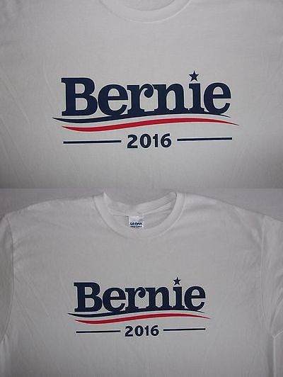 Bernie Sanders: Democratic Presidential Candidate Bernie Sanders 2016 Cotton T-Shirt Xl ~New~ BUY IT NOW ONLY: $0.99