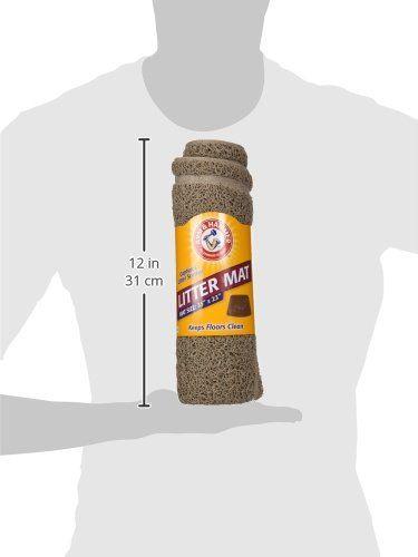 Arm & Hammer Wedge Shape Litter Mat with Paw Design