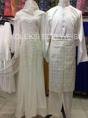 Set Baju Pengantin Putih