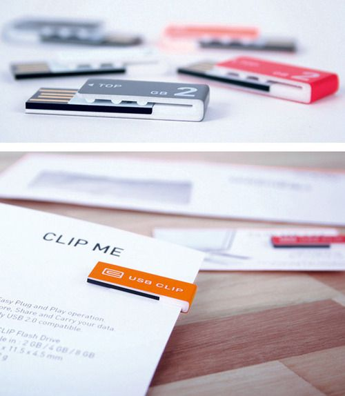 USB Clip: Usb Clips, Technology, Stuff, Techie Gadgets, Products, Design, Gadgets Geek