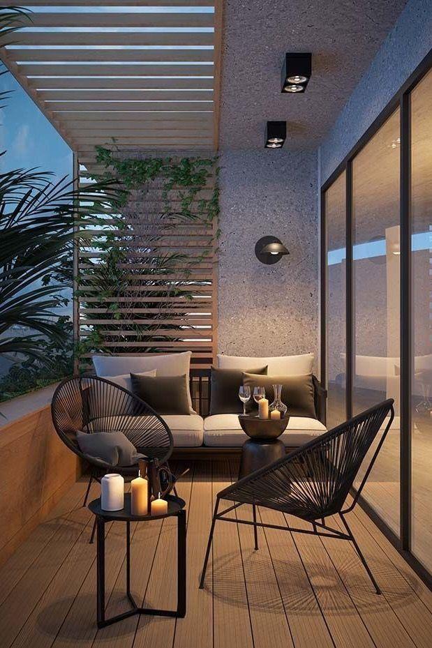 Modern Balcony Setting Balcony Decor Terrace Garden Design Patio Garden Design