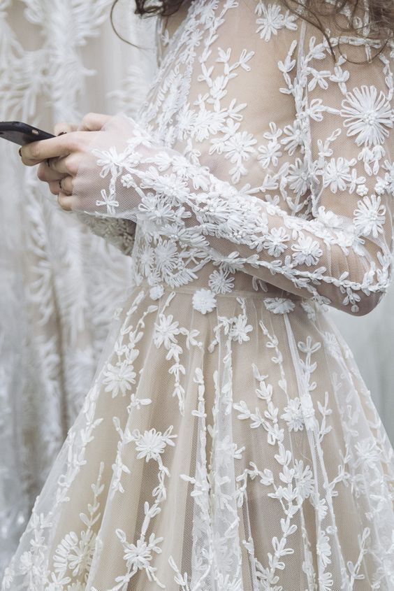 delicate lace wedding style inspiration | The Lane