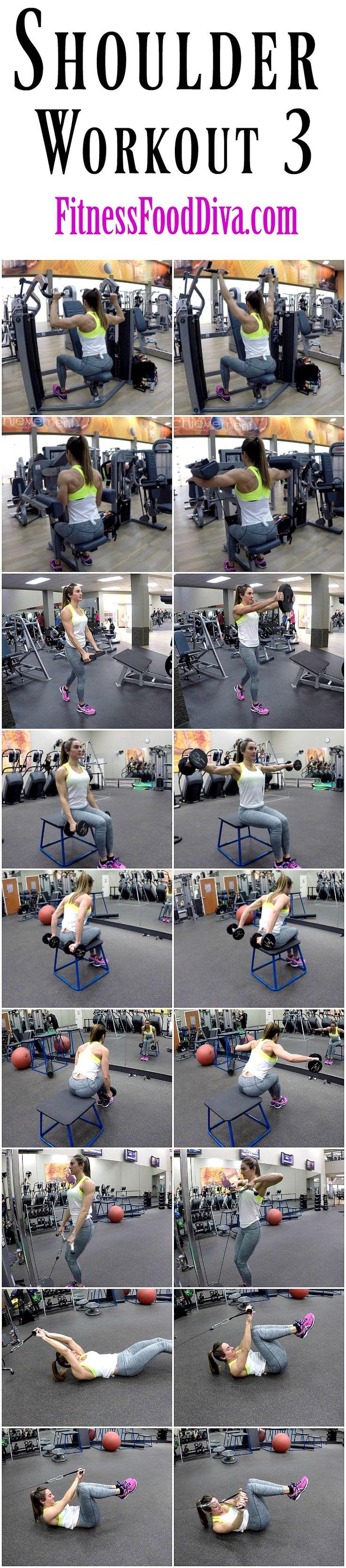 Free Shoulder Workout 3 | Fitness Food Diva