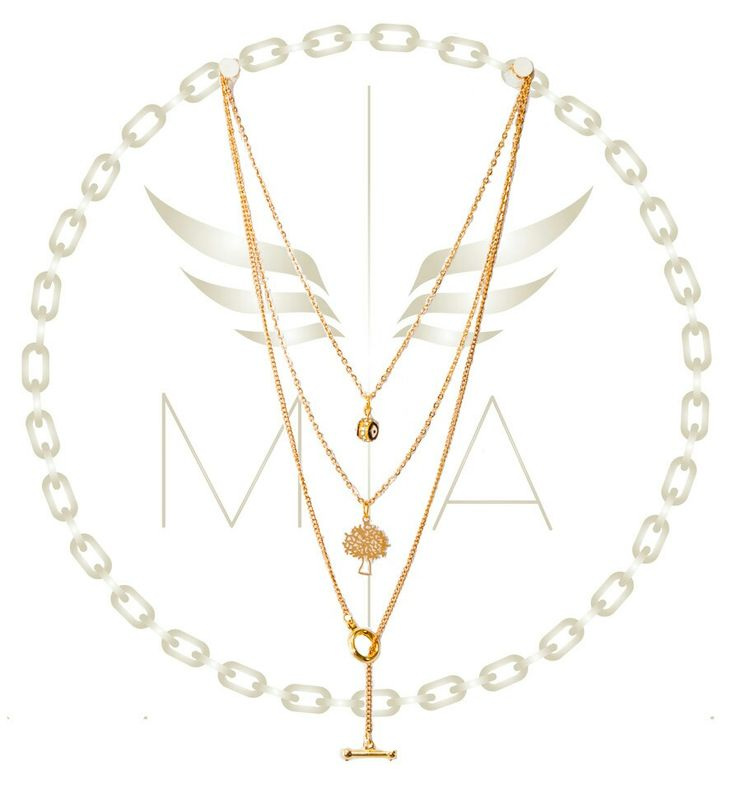 Collar triole dorado by Mery Angwl accesorios #jewelry #accesorios #joyas #ojo #collar #fashion #diseño #bogota #colombia #moda #newlook