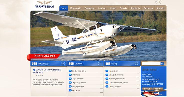 Dla lotniska Biernat przygotowaliśmy nowy system zarządzania treścią.  #cms, #oprogramowanie, #stronawww