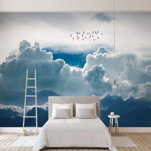 Au 21 33 50 Rabatt Nach Wandbild Tapete Moderne Abstrakte Sky Wolken Foto Wand Malerei Wohnzimmer In 2020 Cloud Wallpaper 3d Wallpaper Living Room Wall Wallpaper