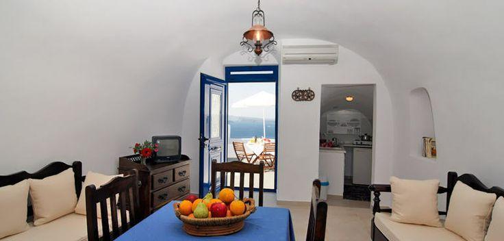 Anemomilos Villa Santorini Hotel in Oia - interior of a private villa. http://www.anemomilos.com/santorini-villa.html