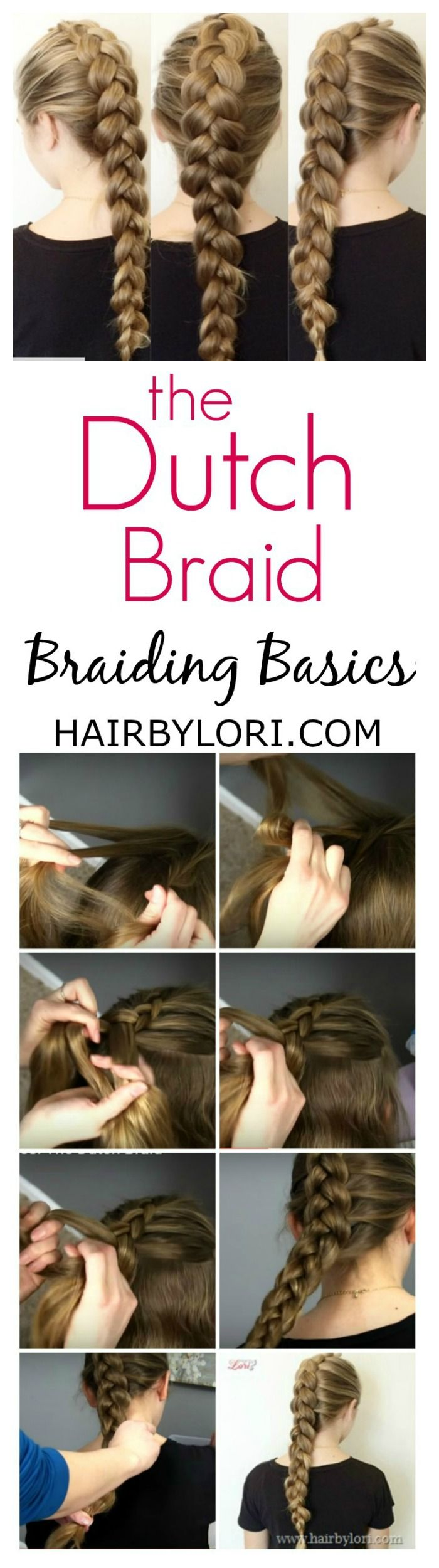 Braiding Basics €� How To Dutch Braid Inside Out French