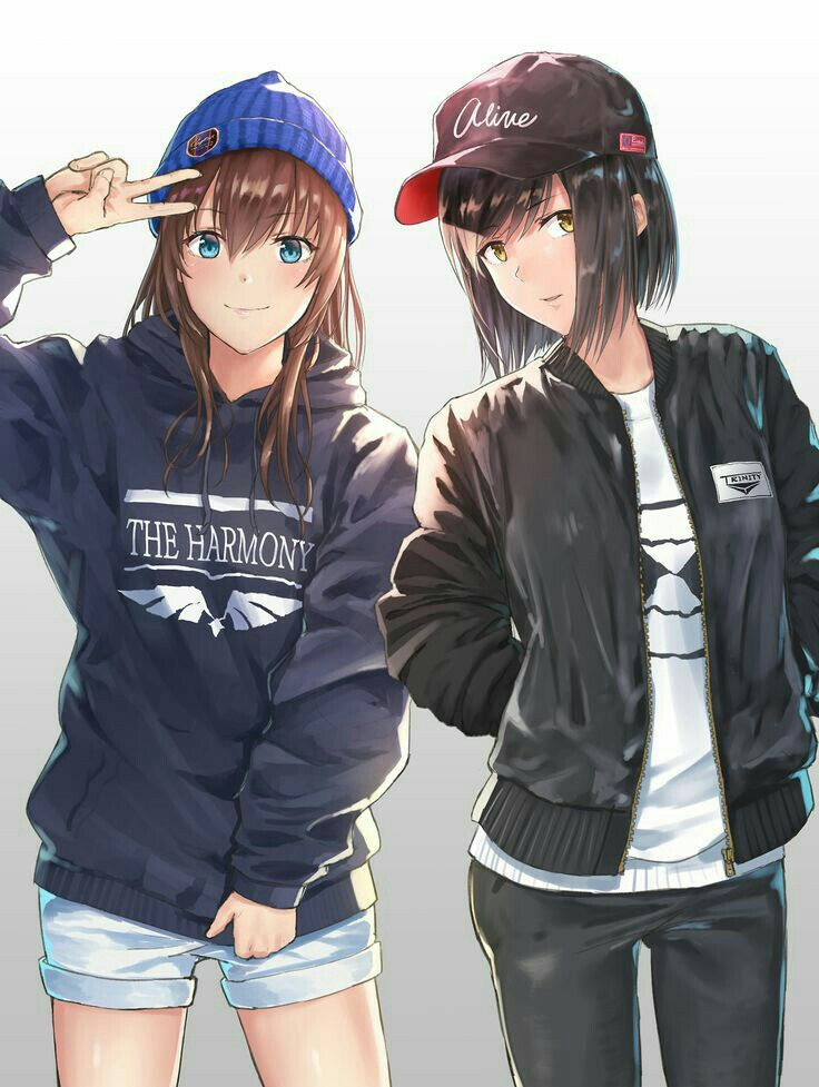 Best friend forever Gadis animasi, Gadis manga, Animasi