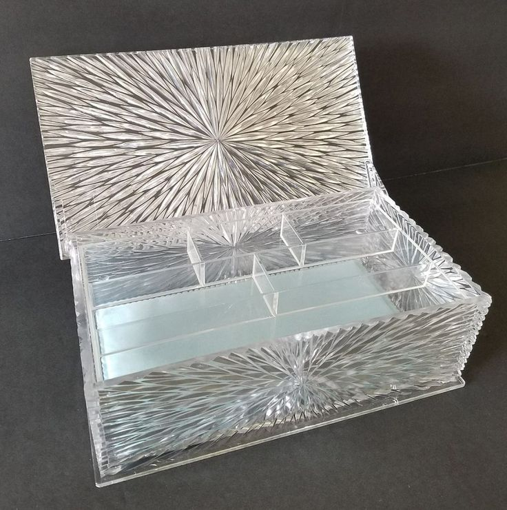 Celebrity New York, NY Vintage Lucite Jewelry Box with ...