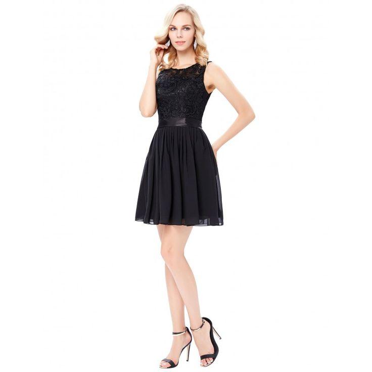Čierne spoločenské šaty GK000119
