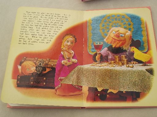 60s 70s vintage Froebel Kan 3-D fairy tale books, puppet hologram pictures