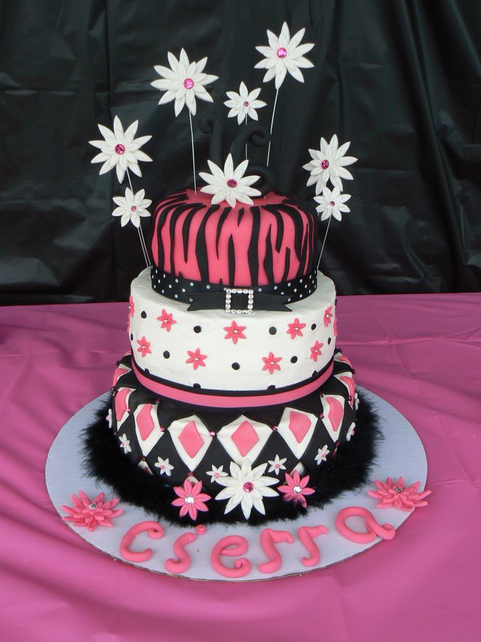 Cake Designs For 16th Birthday Girl : Girls Birthday Cakes Pin 18th Birthday Cakes For Girls ...