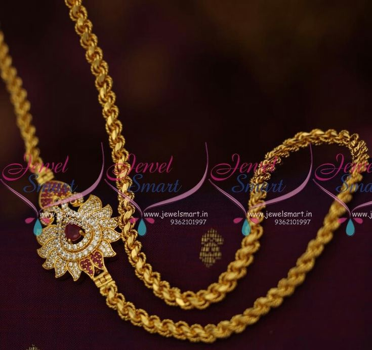 39 best thali chain designs images on Pinterest | India jewelry ...